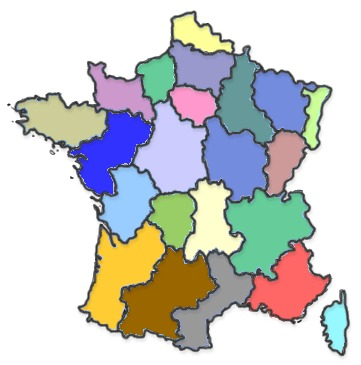 Carte de France des distributeurs de peintures Onip